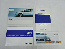 2003 - 03  VOLVO S40/V40  USER OWNER MANUAL HANDBOOK GUIDE INFORMATION BOOK