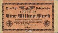 Deutsches Reich Pick-Nr: S1011 Inflationsgeld der Deutschen Reichsbahn bankfrisc