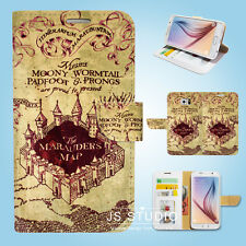 Samsung Galaxy S3 4 5 6 7 8 Edge Plus Note Wallet Case Cover Harry Potter S139
