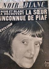 NOIR ET BLANC #1134 AUG 1966, LA SOEUR INCONNUE DE EDITH PIAF,VG COND FREE SHIP