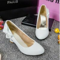 Womens Sweet Pointy Toe Heart Wedge Heels Slip On Shoes Party Dress Pumps size