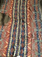 Vintage Indian Blanket To Repurpose-Artistic Indian Design-Non Native American