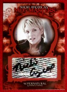 SUPERNATURAL - NICKI AYCOX - Personally Signed Autograph Card - 2006