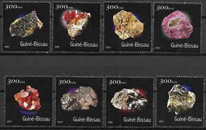 """GUINEA-BISSAU - 2001 MNH """"MINERALS - I"""" Complete Set !!!"""