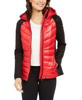 Calvin Klein Womens Walking Red Track Jacket OUTERWEAR SZ XL Performance Quilt
