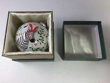 New in Box 2015 Pier 1 Li Bien Hand-Painted Glass Christmas Ornament Zebra