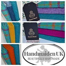 HARRIS TWEED FABRIC BUNDLES 'Turquoise Range' 4 SIZES - LABELS & TAGS craft sew