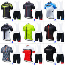 Men Cycling Jersey Short Sleeve Road Bike MTB Fast Dry North Wave Team Kits Set