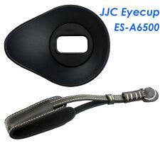 JJC ES-A6500 Silicagel Oval large Eyecup +Genuine Leather Wrist Strap Sony a6500