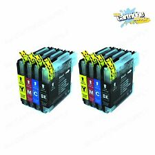 8PK New LC61 Ink Cartridges For Brother MFC-295CN MFC-385CW MFC-490CW MFC-290C