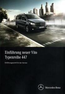 Mercedes-Benz Vito Typ 447 2014 Einführungsschrift Service