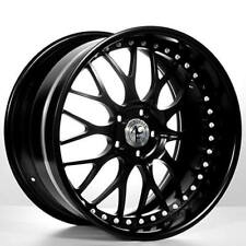 """4ea 19"""" Staggered AC Forged Wheels Rims 313 BK 3 pcs (S2)"""