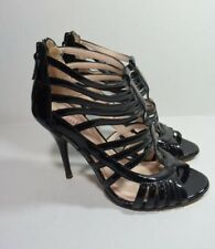Plenty by Tracy Reese Womens Black Patent Leather Strappy Heel Leta Size 37
