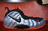 Nike Air FOAMPOSITE PRO Silver Red Crimson One 624041-016 Penny Galaxy Size 10.5
