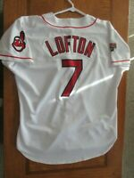 Kenny Lofton Authentic Cleveland Indians throwback Jersey Size 48 XL sewn 1995