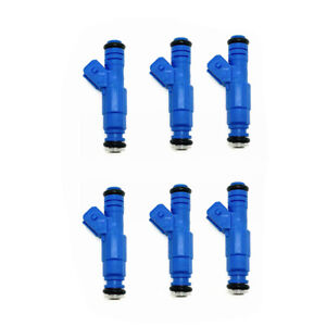 EV1 Best Upgrade Fuel Injectors Set (6) 0280150129 for Jaguar XJ6 XJS 3.6L 4.0L