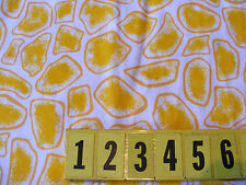 Cotton Animal Skin - Yellow Giraffe Print Fabric - 150cm Wide - New by Dcf