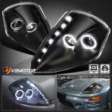 2000-2005 Eclipse Dual Halo Black Projector Headlights w/SMD LED DRL Strips