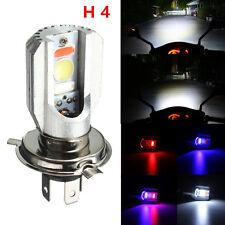 12V H4 COB LED Hi/Low Beam 3 Colors Headlight Fog Light For Motorcycle 12W 6500k