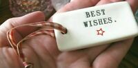 "New Magenta Rae Dunn Sp. Edition ""Best Wishes"" Wine Bottle Charm Gift Tag"