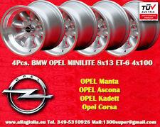 4 pcs. Cerchi OPEL Minilite 8x13 ET-6 4x100 Wheels Felgen Jantes