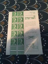 Carnet Neuf, Non Plié,  Marianne de Muller 12 Fr X 10 Timbres. Rare en L'état