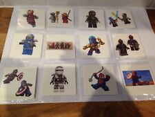 10 X lego NINJAGO / AVENGERS TemporaryTattoo Party Bag filler , UK Seller