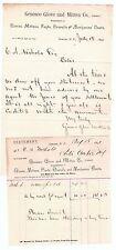 Antique Advertising Billhead Letterhead LOT - Geneseo NY Glove & Mitten Co 1890