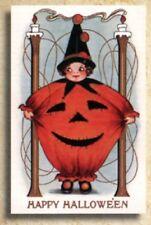Old World Christmas Set of 10 Halloween Greeting Cards: PUMPKIN GIRL #89702