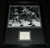 Bob Lilly Signed Framed 11x14 Photo Display Dallas Cowboys