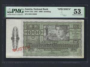 Austria 1000 Shillings 1950 P125s Specimen About Unciruclated Grade 53