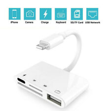 4 in 1 Lightning to USB Camera SD TF Card Reader Adapter For iPhone iPod iPad