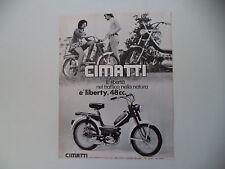 advertising Pubblicità 1971 CIMATTI LIBERTY 50