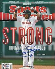 JONNY GOMES (Red Sox) Signed SPORTS ILLUSTRATED Magazine with PSA COA (NO Label)