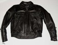 WOMEN'S BLACK LEATHER XPERT MOTORCYCLE JACKET! THINSULITE LINER! ZIPPER VENTS! M