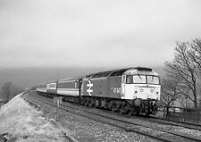 PHOTO  1989 CLASS 47 47647 DIVERTED TRAINS ON THE S&C MARCH 1989 (6) ON A DAY SE