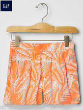 Authentic GAP fits 10 y to XS-M Ladies Orange Palm Summer Shorts Girls ~ New