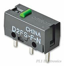 OMRON ELECTRONIC COMPONENTS   D2FS-F-N   MICROSWITCH, PLUNGER, SPST, 0.1A, 6VDC