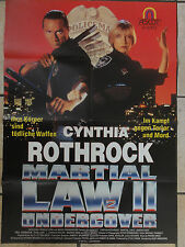 Videoplakat MARTIAL LAW II (2) UNDERCOVER Cynthia Rothrock