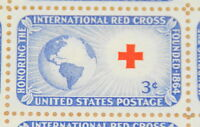 1952 sheet of postage stamps - International Red Cross - Sc# 1016
