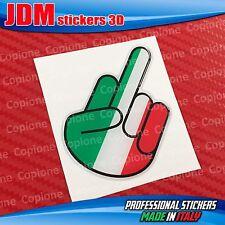 Adesivo 3D resinato STICKER Shocker handFUCK OFF auto moto ITALIA tricolore