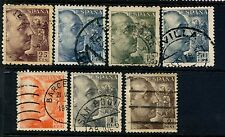 Spain seven 1939-53  Gen. Francisco Franco Used