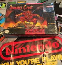 Demon's Crest Super Nintendo, Cleaned Tested And Working! Original Plastic!