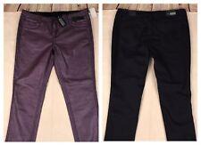 Formula Reversible Womens Jeans Indigo Coated Purple Metallic Skinny Size 34