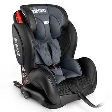 Autokindersitz Autositz Kinderautositz mit ISOFIX 9-36kg Gruppe 1+2+3 Leder Grau