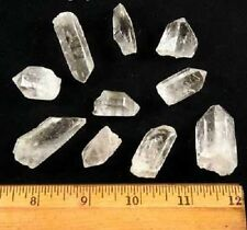 "Clear Quartz Points ""A/B"" Grade (5/8"" - 1.25"") - 10 pcs  US Seller"