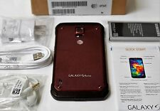 Samsung Galaxy G870A S5 Active RED Smartphone AT&T waterproof Unlocked mobile 9