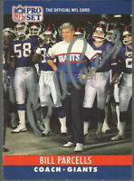 BILL PARCELLS 1990 NFL PRO SET SIGNED AUTOGRAPHED NY GIANTS CARD w/COA