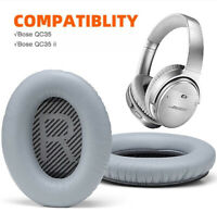Replacement Ear Pads Cushion For Bose Headphones Quiet Comfort QC35/35 II (Grey)