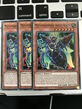 Yugioh 3x Metamorphosed Insect Queen LED2-EN008